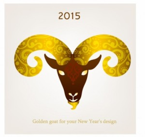 vector_illustration_of_goat_symbol_of_2015_312463